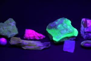 Minteralien UV-Beleuchtung